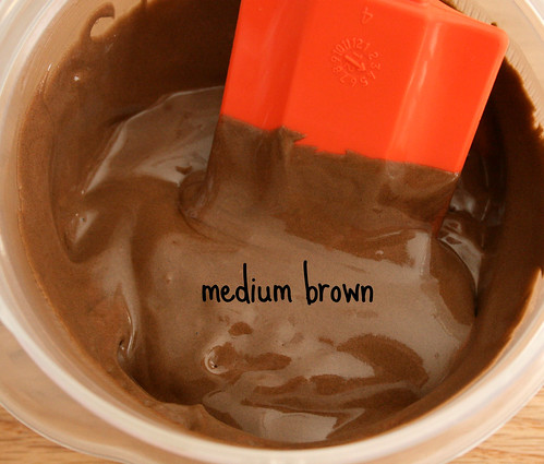 Making brown icing with leftovers
