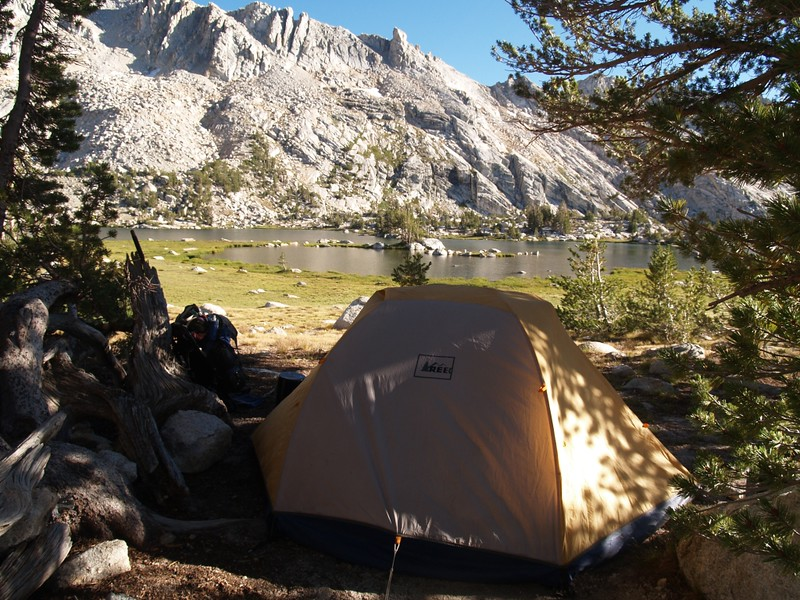 Our tent and campsite at upper Young Lake
