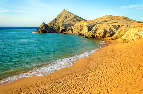 ocean travel blue sea vacation sky holiday seascape tourism beach southamerica nature water beautiful landscape bay coast sand scenery colombia view desert natural scenic wave architectural coastal shore coastline remote caribbean sugarloaf peninsula cabodelavela semidesert laguajira pilondeazucar