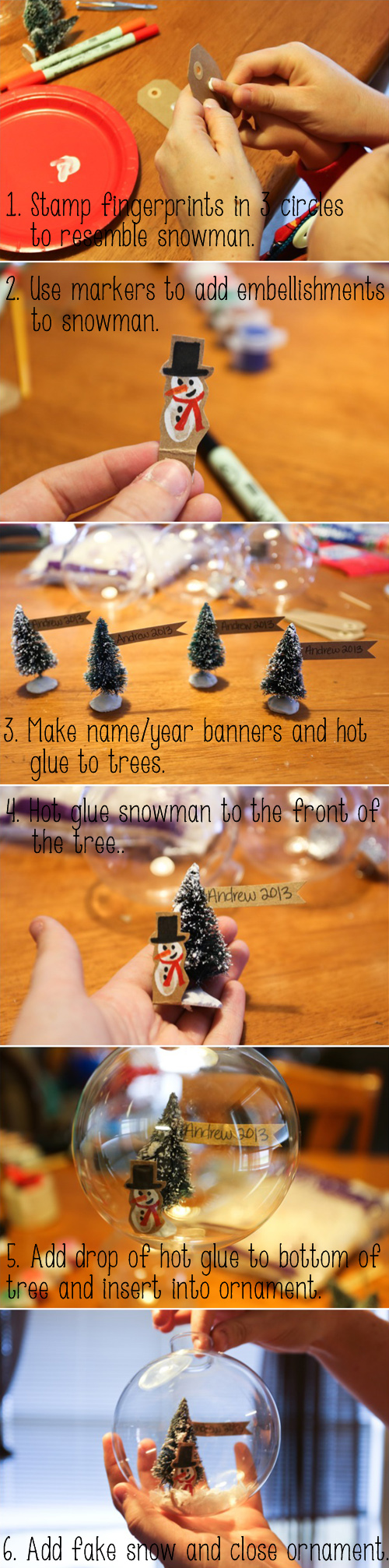 Snow Globe Instructions