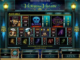Victorian Villain Slots Payout
