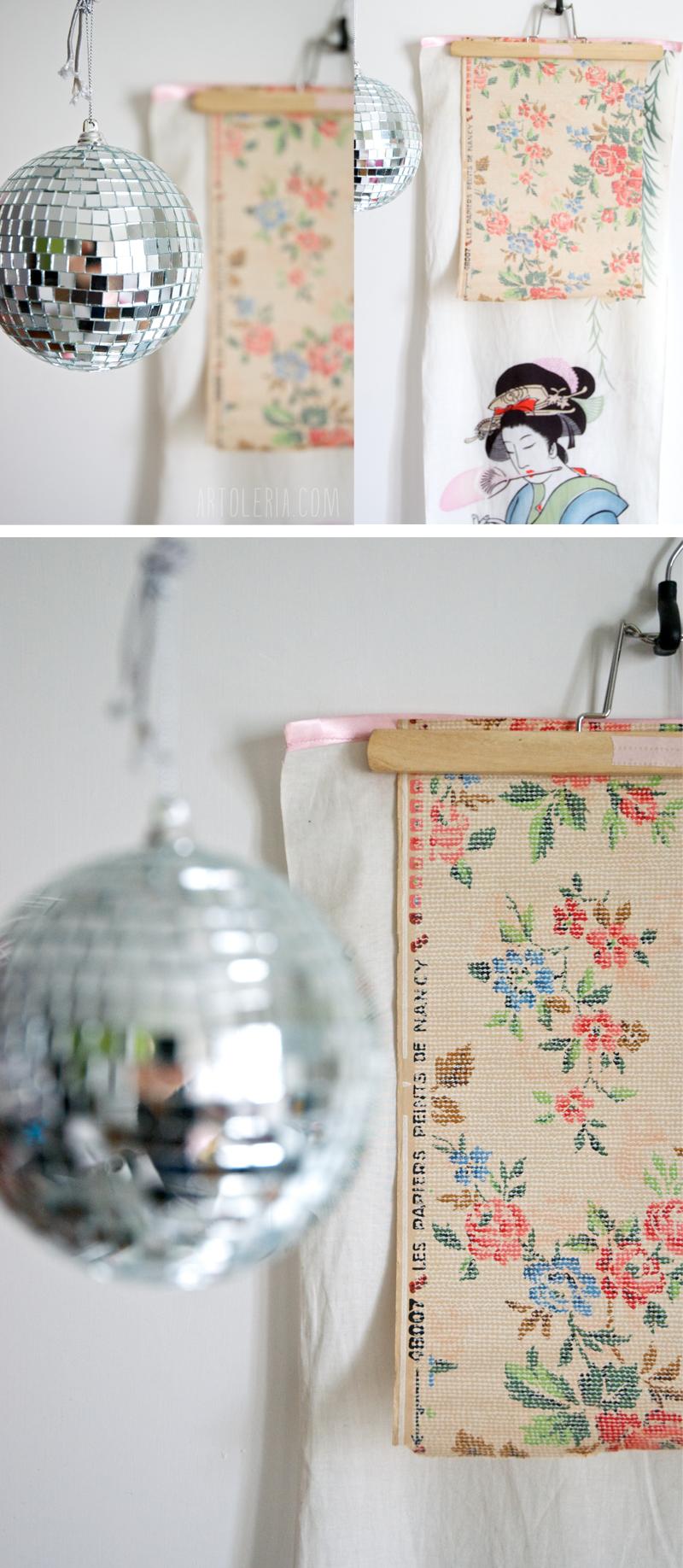 decorazione con carta da parati vintage