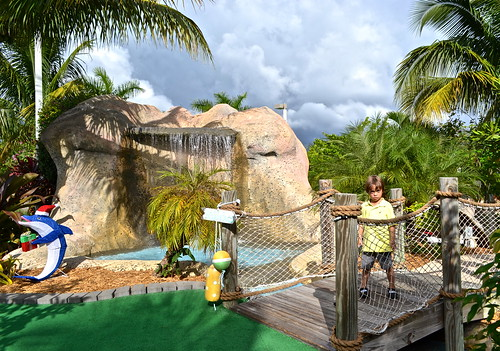 -Mini Golf - Putt N Around, South Florida waterfalls and bridges