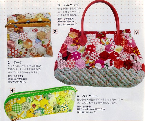 Hexagon patchwork bags pic