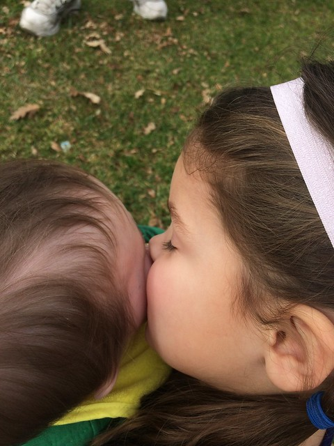 kissing these two