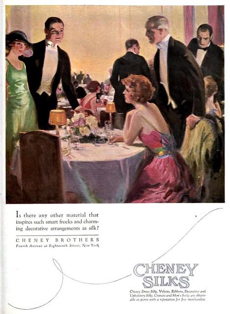 Cheney Silks, September 1922