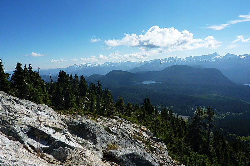 Forbidden Plateau in Strathcona Provincial Park, viewed from Mount Washington, British Columbia