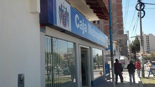Caja Metropolitana 간판