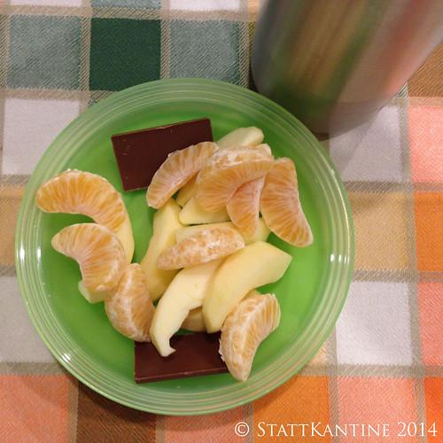 Stattkantine 06.02.14 - Mandarine, Apfel, Orangensaft-Schorle