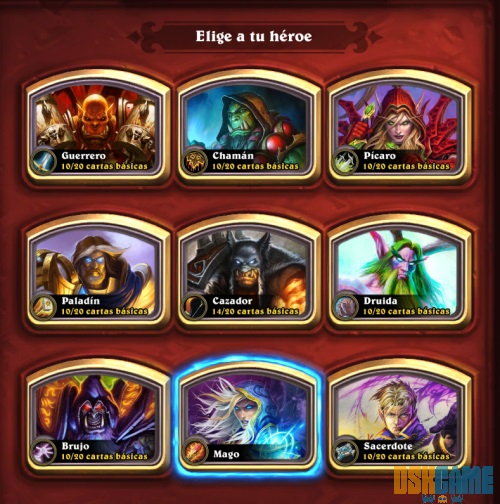 Hearthstone: Heroes of Warcraft clases