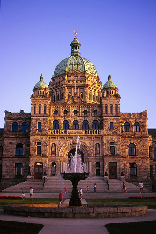 Legislative Building of the Government of British Columbia in Victoria on Vancouver Island, BC
