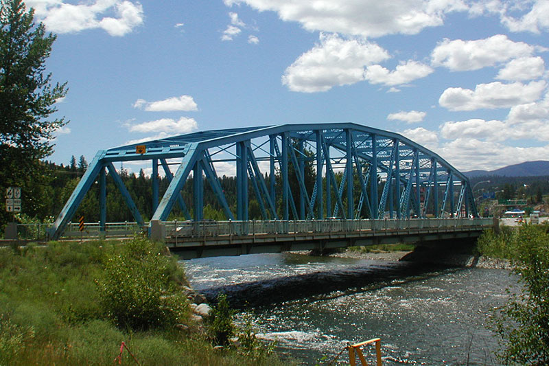 The Blue Bridge in Penticton, Okanagan Valley, British Columbia, Canada