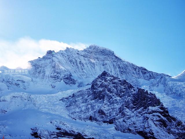 looking at Jungfrau from Kleine Scheidegg