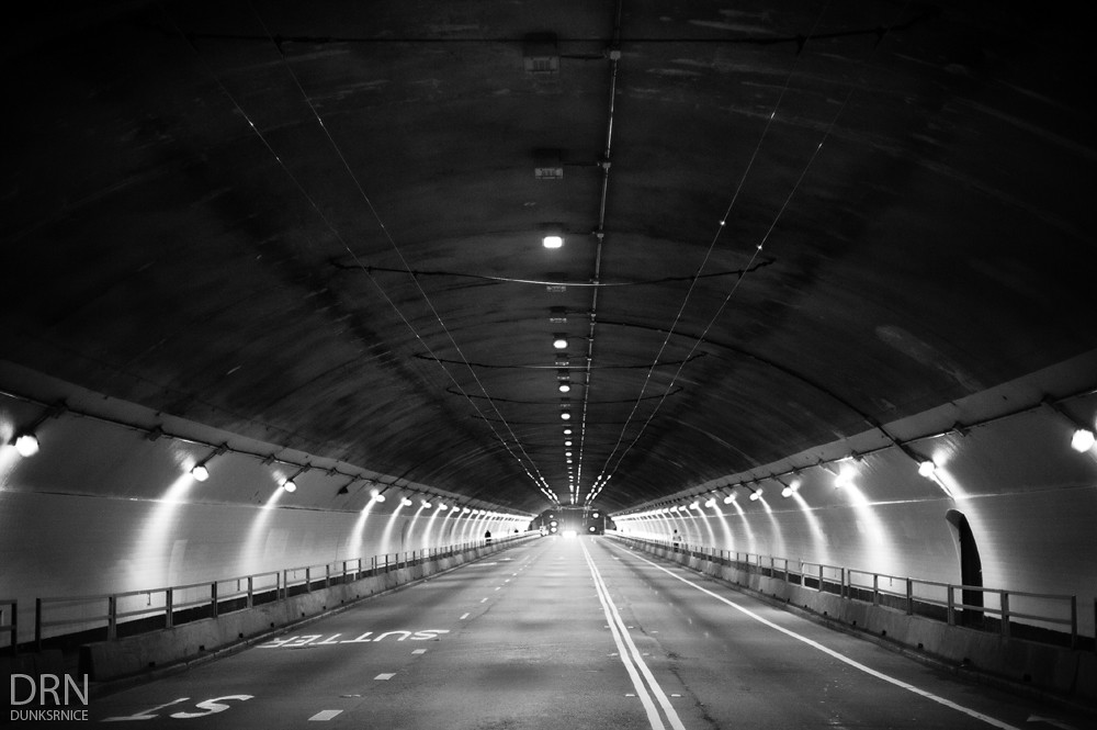 Tunnel B&W.