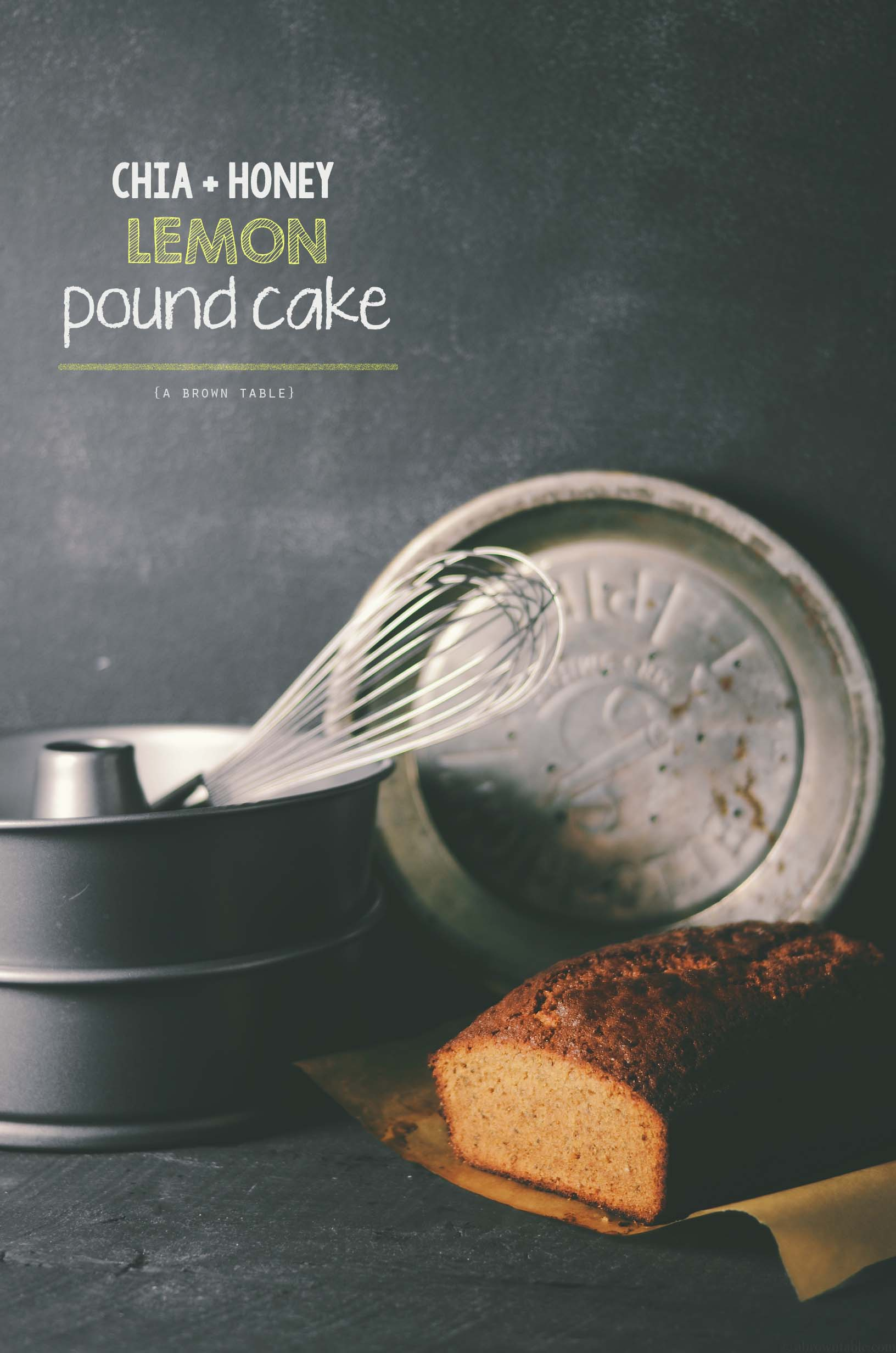 chia seed lemon honey pound cake