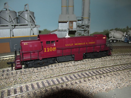 Gulf, Mobile & Ohio Railroad Alco RS 1 # 1108 parked near the cement plant. by Eddie from Chicago