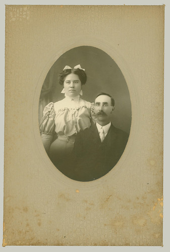 Couple in Oval Portrait