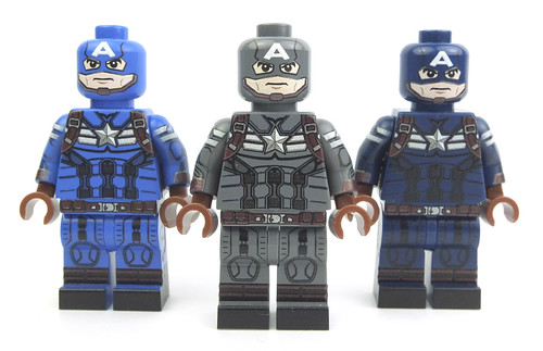 Captain America trio by LaPetiteBrique.com