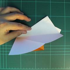 วิธีการพับกระดาษเป็นรูปกบ (แบบโคลัมเบี้ยน) (Origami Frog) 014