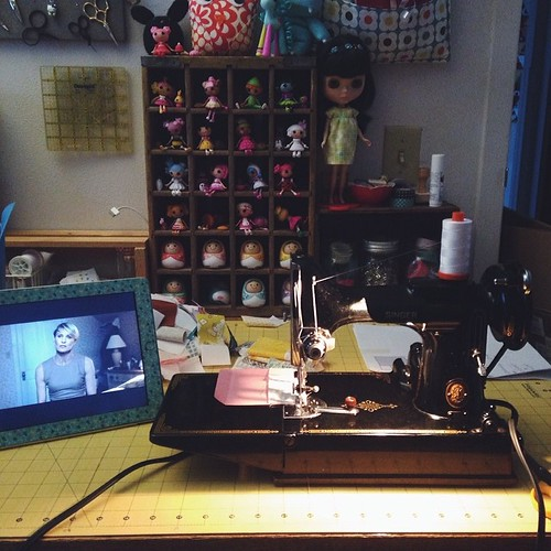 Late Night Sewing by Jeni Baker