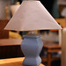 Lamp with blue base