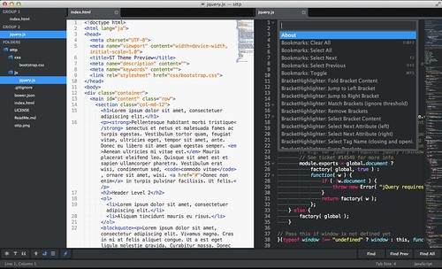 My Sublime Text Screen Shot