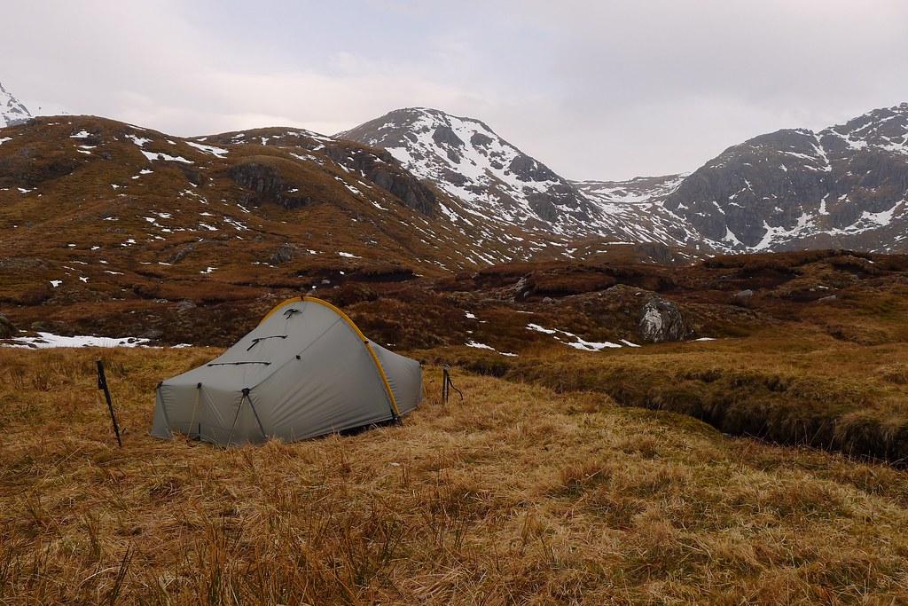 Wild camping below An Socach