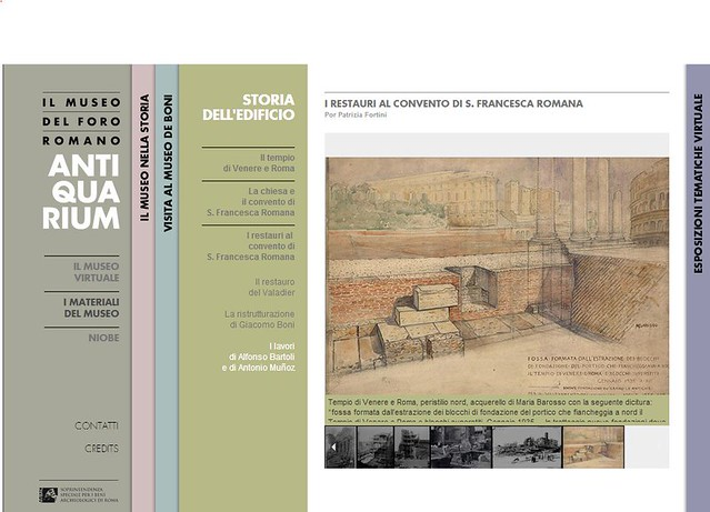 ROMA ARCHEOLOGIA e BENI CULTURALI: Il Museo Del Foro Romano - Dott. Arch. Maria Barosso, Tempio di Venere e Roma, acquerello, (01|1935), in: STORIA DELL'EDIFICIO | SSBAR (2013-14).