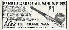 Tobacciana Advertising - Eddie The Cigar Man, From Popular Science Magazine, June 1948