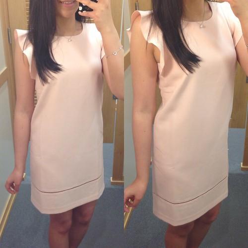 LOFT Flutter sleeve dress