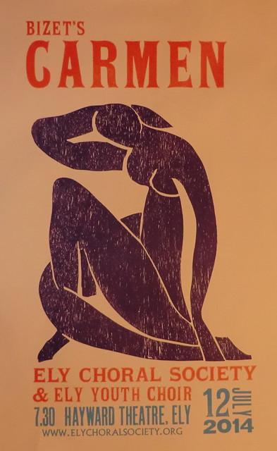 "Letterpress poster 30"" x 18"""