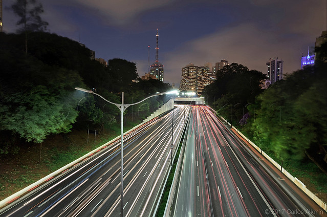 Sao Paulo - Light Trails of 23 de Maio Avenue
