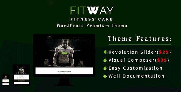 Fitway WordPress Theme free download