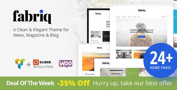 Fabriq WordPress Theme free download