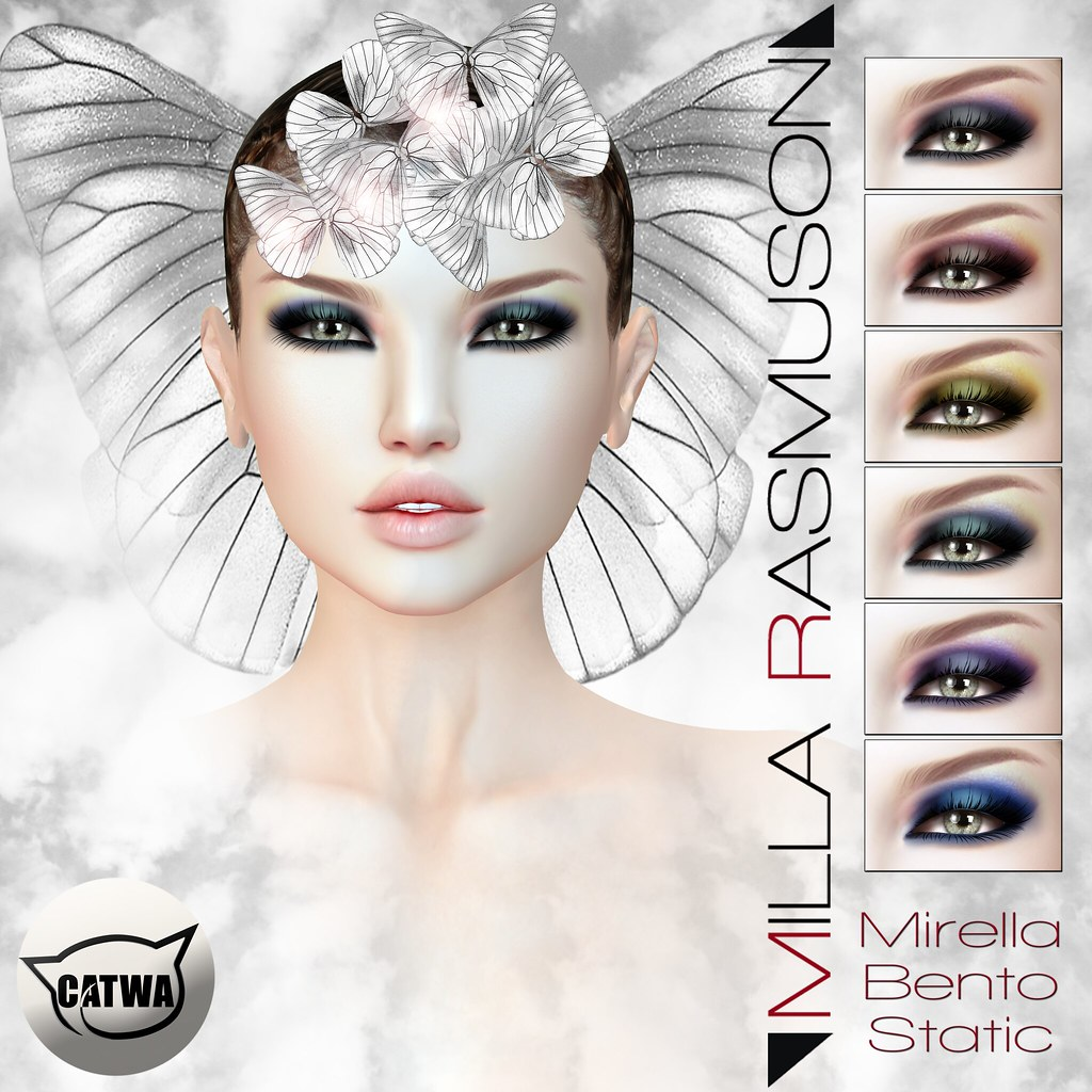"MRM ""Mirella"" Eyes Makeup Static/ Bento Catwa Head - SecondLifeHub.com"