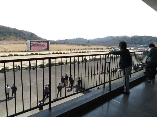 佐賀競馬場の2階中央