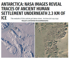 Antarctica - NASA Images Reveal Traces of Ancient Human Settlement Underneath 2.3 km of Ice