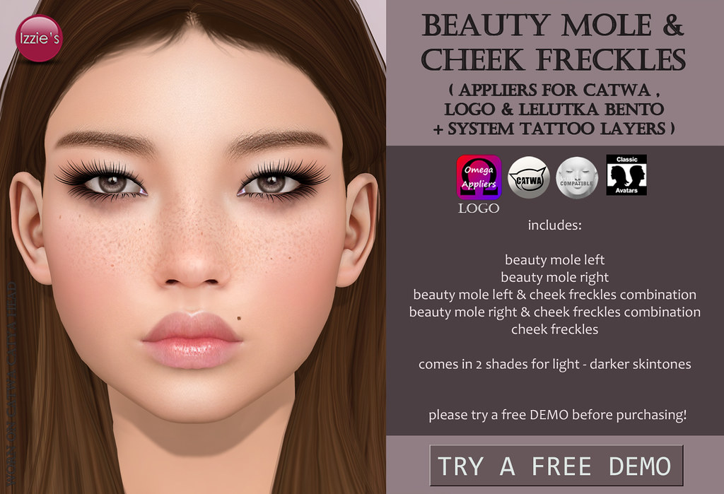 Beauty Mole & Cheek Freckles for FLF - SecondLifeHub.com