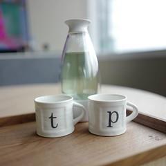 And a new pair of tea/espresso cups... with #MariageFrères #Coq #BlueTea