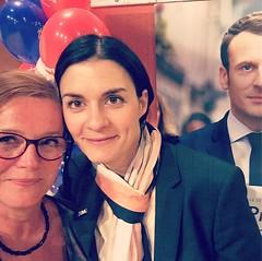 Haha, comme une vraie groupie :-). Avec Audrey Bourolleau #meeting #Enmarche #bressuire