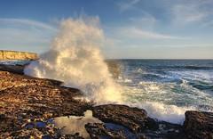 Watch out, crashing waves!