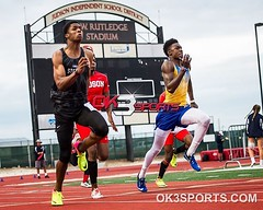 Clemens, Steele, Judson running the varsity 200m at the 27-6A finals!!! #ok3sports #sportsphotography #nikonsports