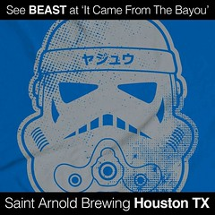 Grab an original BEAST Street Trooper shirt Sunday at Saint Arnold Brewing Co. Houston TX #tshirt #beast #keepitBEAST #streettrooper #stormtrooper #starwars #screenprint #madeinusa #SaintArnoldBrewing #print #artwork #squeegee #keepitBEAST #beastsyndicate