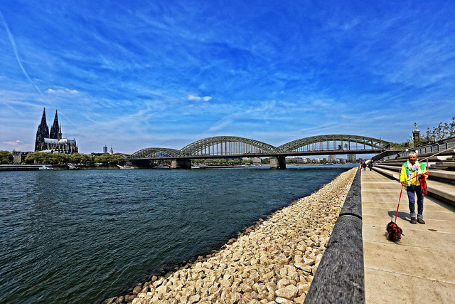 Cologne on a cold but sunny April afternoon