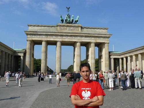 Foto en la Puerta de Brandenburgo (Berlín)