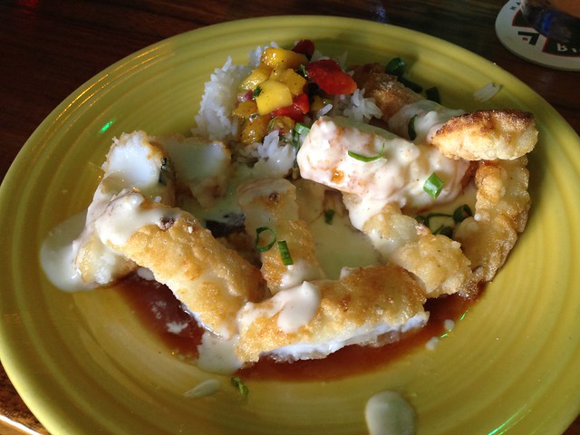 Abalone style calamari - Hula's Island Grill