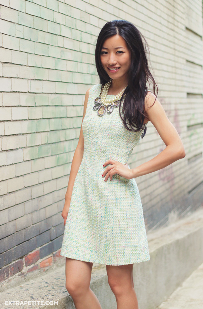 pastel tweed dress 1