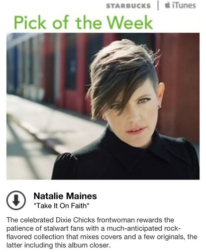 Starbucks iTunes Pick of the Week - Natalie Maines - Take It On Faith