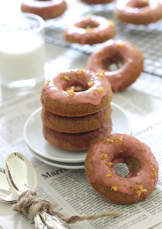 Strawberry lemon donuts