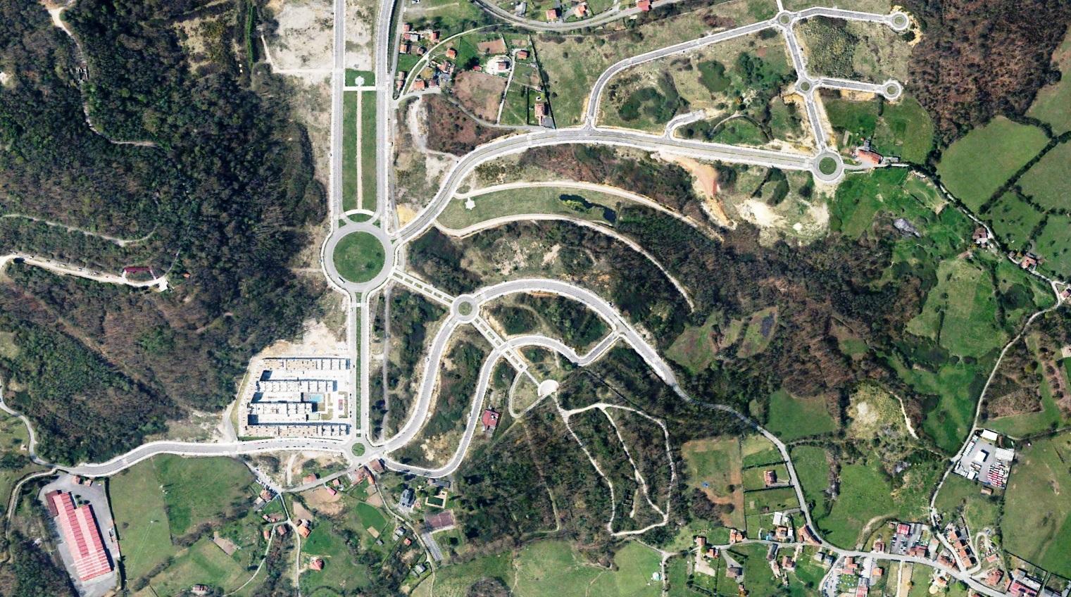 después, urbanismo, foto aérea,desastre, urbanístico, planeamiento, urbano, construcción, La Manxoya,Oviedo, Manjoya, Asturias, Asturies